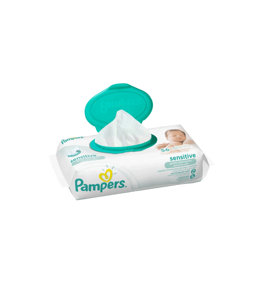 Pampers 56 Baby Wipes Sensitive Gentle Cleaning Supermart Ae