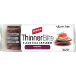 Fantastic ThinnerBite Black Rice Crackers Original 100g