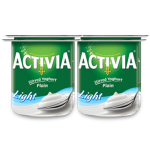 Activia Stirred Plain Low Fat Yoghurt 4x120G