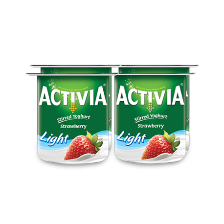 Activia Stirred Strawberry Low Fat Yogurt 4x120G