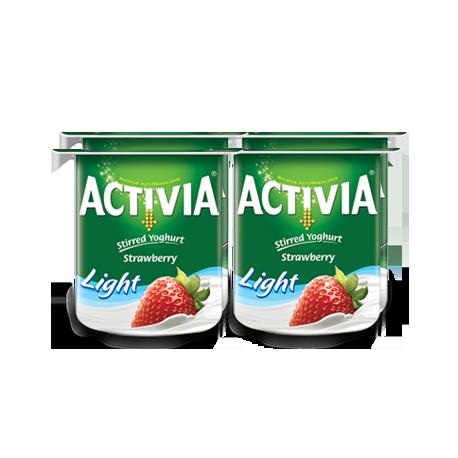 Activia Stirred Yogurt Strawberry Light 4x120g