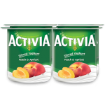 Activia Stirred Peach & Apricot Full Fat Yogurt 4x120G