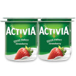 Activia Stirred Strawberry Full Fat Yogurt 4x120G