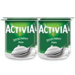 Activia Stirred Plain Full Fat Yogurt 4x120G
