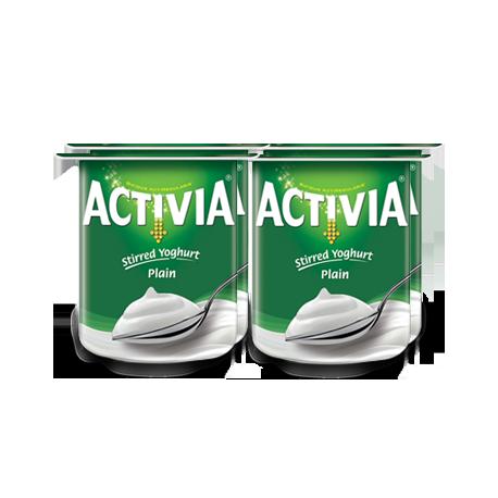 Activia Stirred Yogurt Plain 4x120g