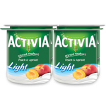 Activia Stirred Peach & Apricot Low Fat Yoghurt 4x120g