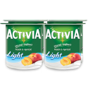 Activia Stirred Yoghurt Peach & Apricot Light 4x120g