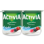 Activia Stirred Yoghurt Mix Berry Light 4x120g