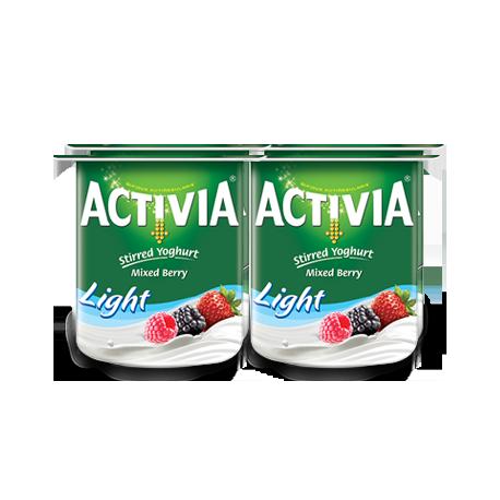 Activia Stirred Mix Berry Low Fat Yoghurt 4x120G