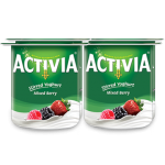 Activia Stirred Mixed Berry Full Fat Yoghurt 4x120G
