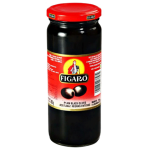 Figaro Plain Black Olives 450g