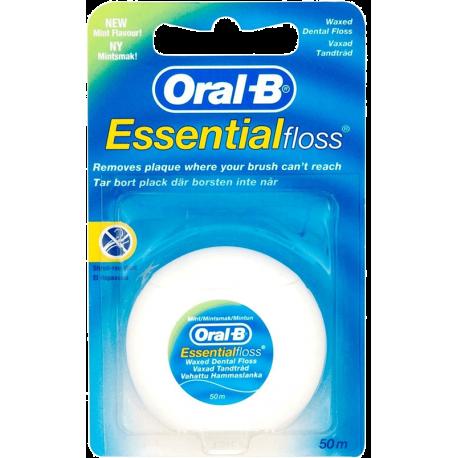 Oral B Essential Floss Waxed 50m
