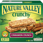Nature Valley Crunchy Cinnamon Crunch Granola 12 bars 6x2