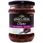 Always Fresh Kalamata Sliced Olives 220g