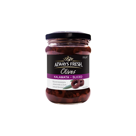 Always Fresh Kalamata Sliced Olives 220g