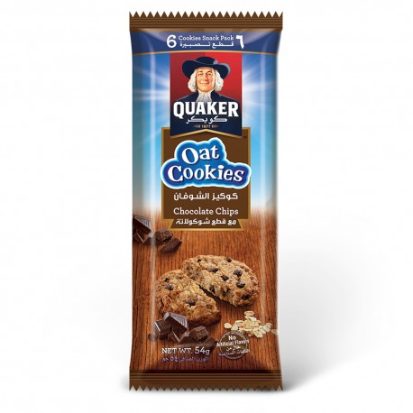 Quaker Oat Cookies Chocolate Chips 54g