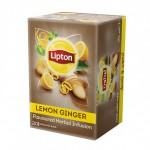 Lipton Herbal Infusion Lemon & Ginger Tea 1.6g, 20 Bags