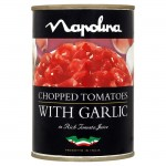 Napolina Chopped Tomatoes With Garlic 400g
