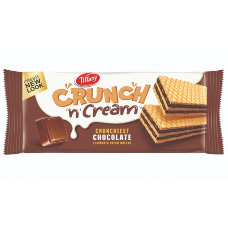 Tiffany Crunch & Cream Wafers Chocolate 76gm
