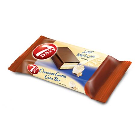 7D Enrobed Cake Bar Vanilla 40g