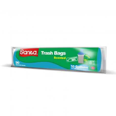 Sanita Scented Trash Bags 10gallons 30 Bags