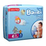 Sanita Bambi, Size 4, Large, 8-16 Kg, Value Pack, 33 Count