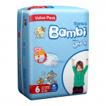 Sanita Bambi, Size 6, Large XXL, 18+ KG, Value pack, 21 count