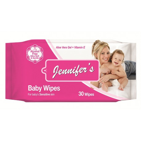 Jennifer's Baby Wipes 30's
