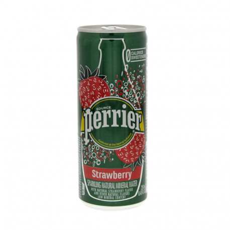 Perrier Natural Sparkling Water Strawberry Flavor 250ml