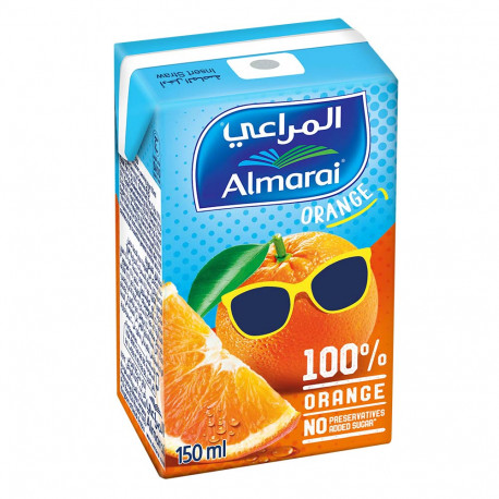 Almarai Uht Juice Orange 100% 150ml