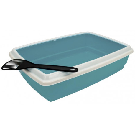 Agro - Cat Litter Tray With Rim + Scoop 54x40x14cm