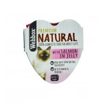 Webbox Natural Cat Heart Salmon in Jelly 85g