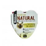 Webbox Natural Cat Heart Chicken in Gravy 85g