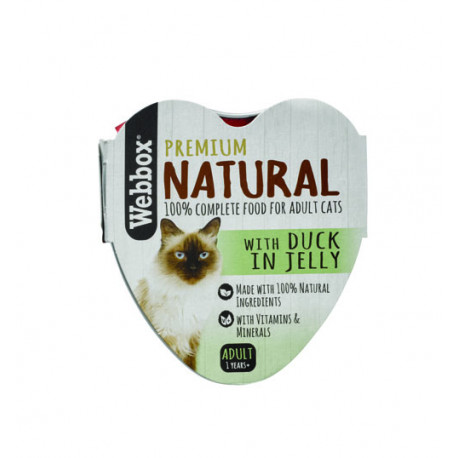 Webbox Natural Cat Heart Duck In Jelly 85G