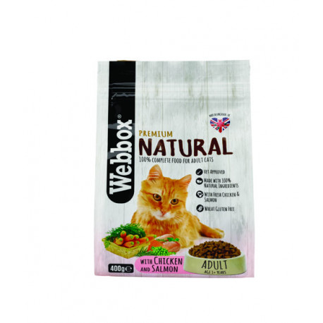 Webbox Natural Cat Dry Adult Chicken & Salmon 400g