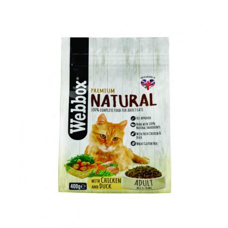 Webbox Natural Cat Dry Adult Chicken & Duck 400g
