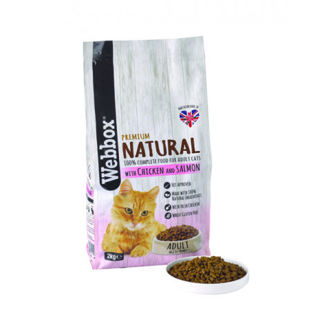 Webbox Natural Cat Dry Adult Chicken & Salmon 2kg