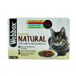 Webbox Natural Cat Mixed Gravy Selection 12x100g