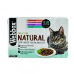 Webbox Natural Cat Fish Jelly Selection 12x100g