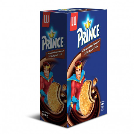 Prince Sandwich Biscuit With Chocolate Flavour Filling 190g