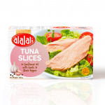 Edit Al Alali White Tuna Slices with Garlic & Black Pepper in Sunflower Oil 100g