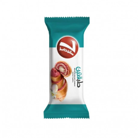 7 Days Double Strawberry  & Vanilla Croissant With Vanilla Filling 90g