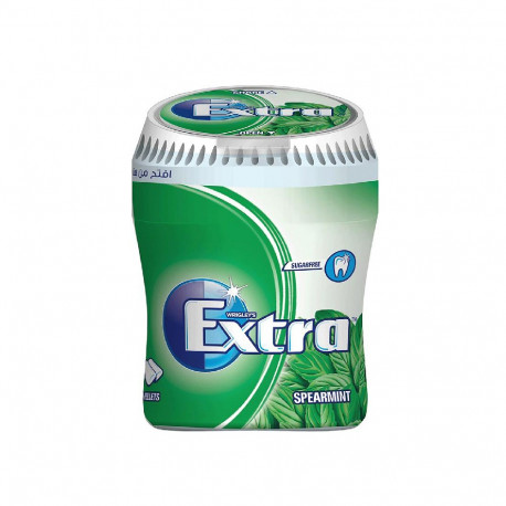Wrigley's Extra Spearmint Gum Bottle 60 Pellets