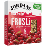 Jordans Frusli Juicy Red Berries Cereal Bars 6x30g