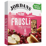 Jordans Frusli Tasty Cranberries & Apple Slices Cereal Bars 6x30g