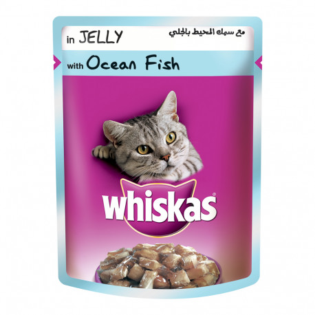 Whiskas in Jelly with Ocean Fish 85g