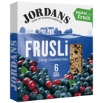 Jordans Frusli Juicy Blueberries Cereal Bars 6x30g