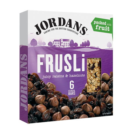 Jordans Frusli Juicy Raisins & Hazelnuts Cereal Bars 6x30g