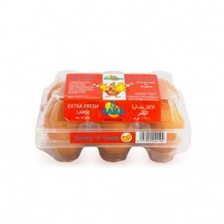 Saha Extra Fresh 6 Brown Eggs