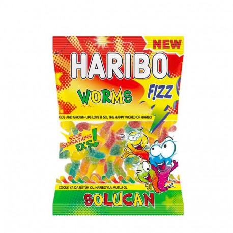 Haribo Worms Fizz Solucan 160g